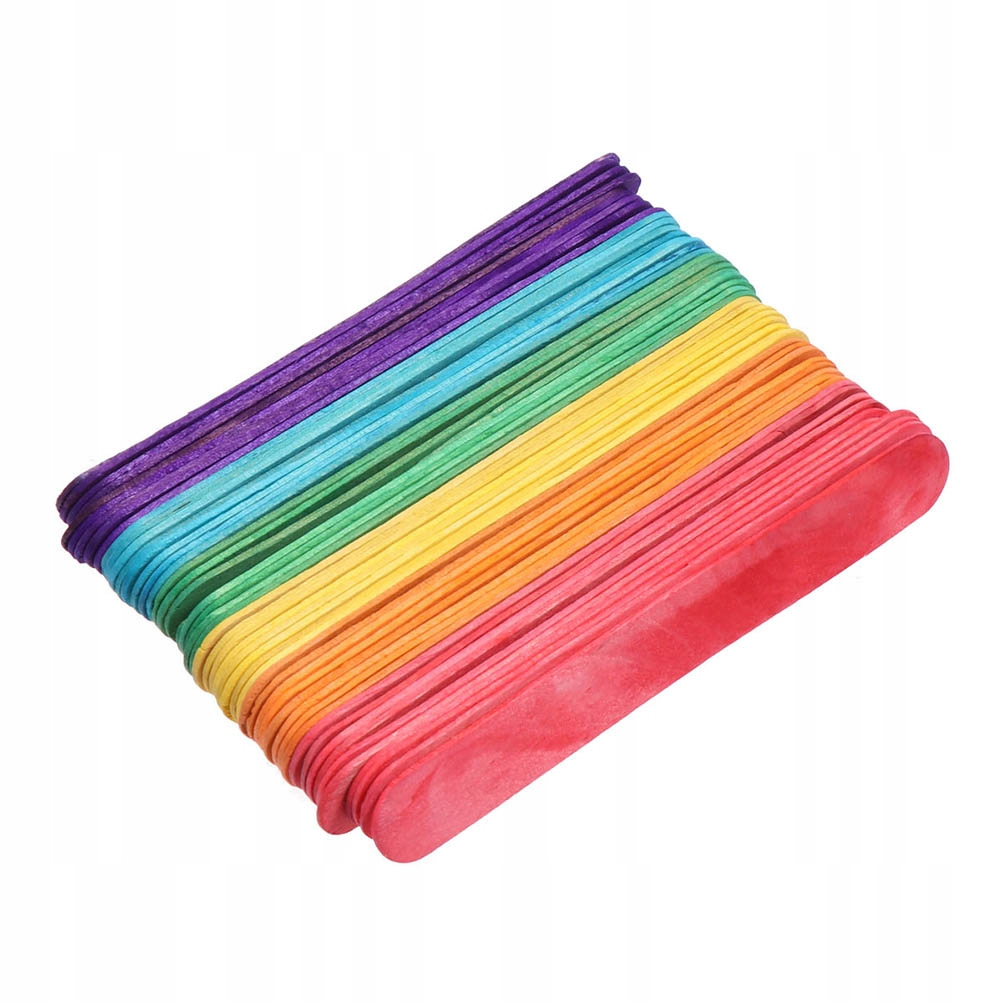300 sztuk Kolorowe Drewniane Kije Lody Popsicle St