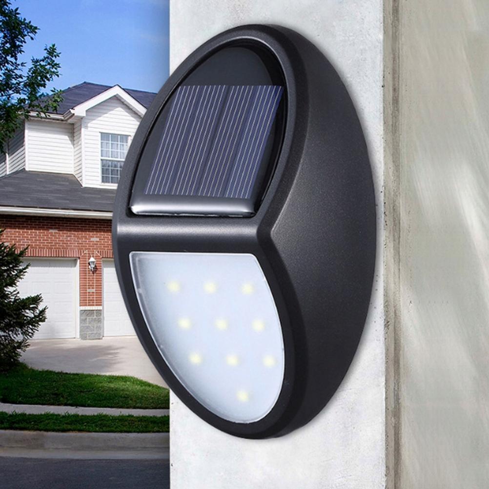 2pcs 10LEDS LED Solar Light Outdoor Solar Lamp IP6