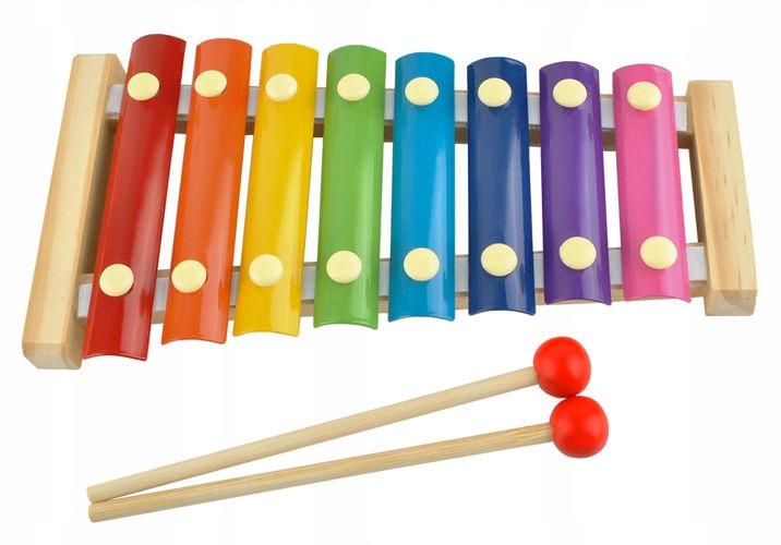 Cymbałki instrument dla dzieci dorosłych kolorowe