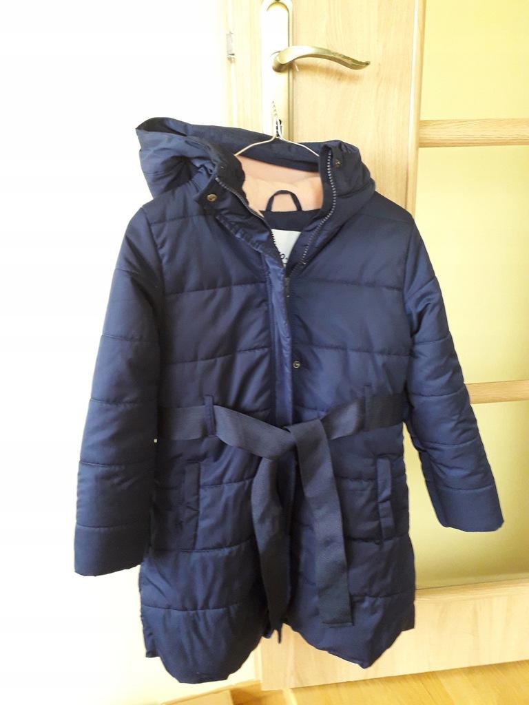 Kurtka, płaszcz zimowy 5 10 15 r. 128, stan bdb