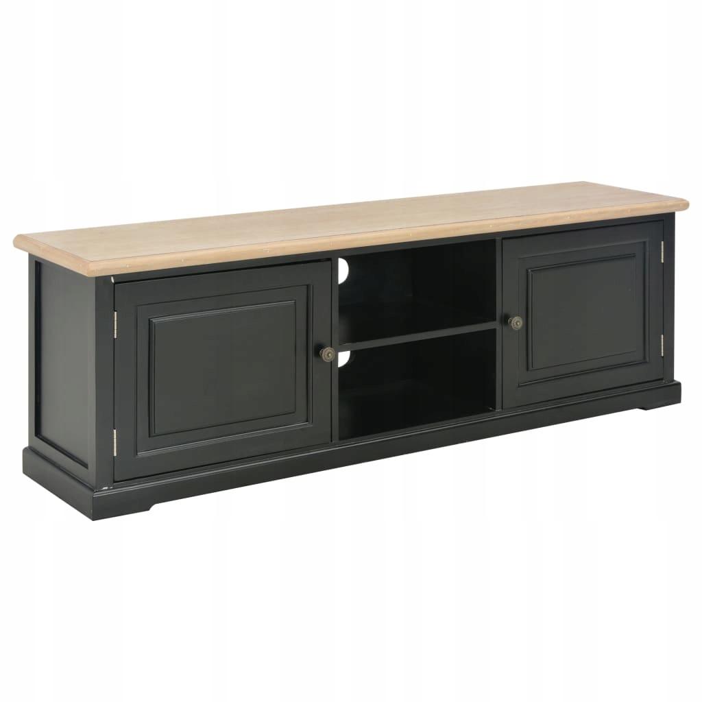 Szafka pod TV, czarna, 120 x 30 x 40 cm, drewniana