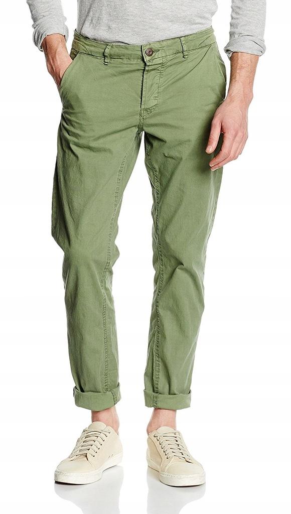 ZIELONE CHINOSY markowe spodnie ONLY SONS 34/32