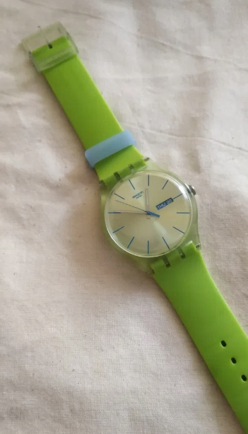Limonkowy Swatch New Gent Lime Rebel SUOG702
