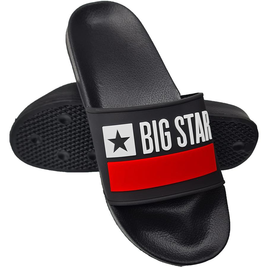 Klapki Big Star męskie czarne GG174936 41