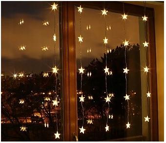 Kurtynka Na Okno Gwiazdki 25 Led Lampki 21 618 8648082303 Oficjalne Archiwum Allegro