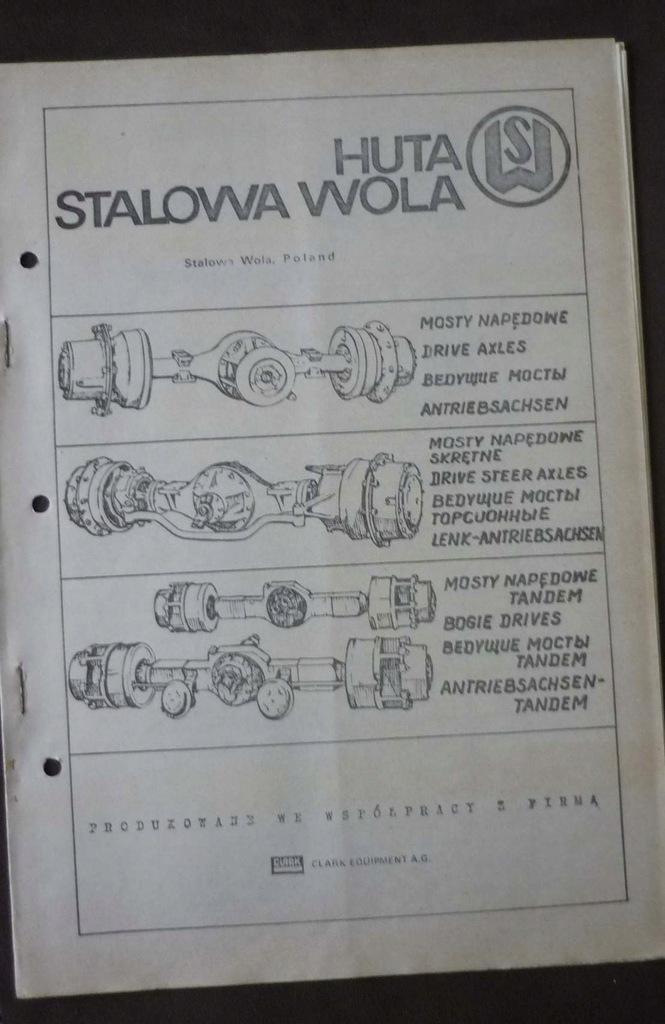 HUTA STALOWA WOLA folder MOSTY NAPĘDOWE