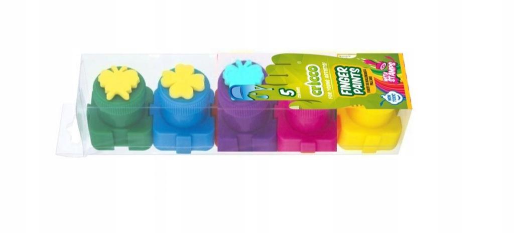 Farby do malowania PALCAMI 5 kolorów dla dzieci