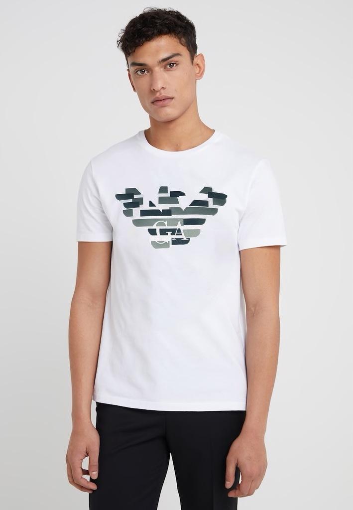 Emporio Armani T-Shirt r. S Koszulka EA7 Biała