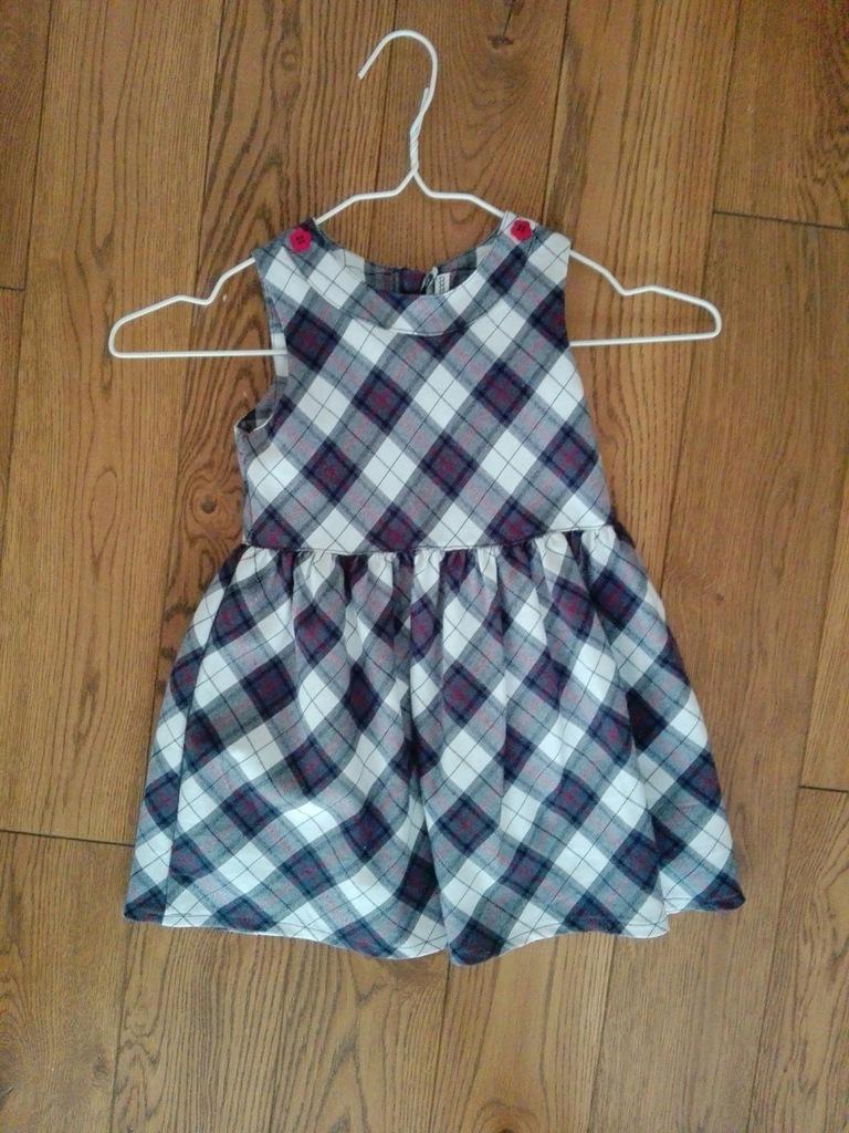Elegancka sukienka w kratke Coccodrillo rozmiar 98