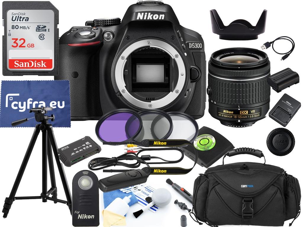 Aparat Nikon D5300 + 18-55 VR +ZESTAW XXL +szmatka