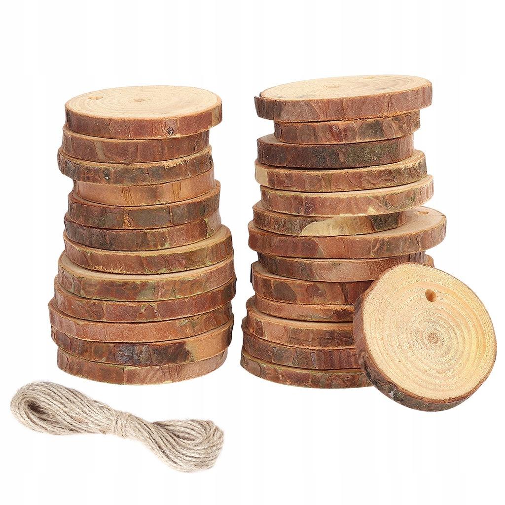 30szt. 6-8 cm Drewniane tarcze do krojenia kawałkó