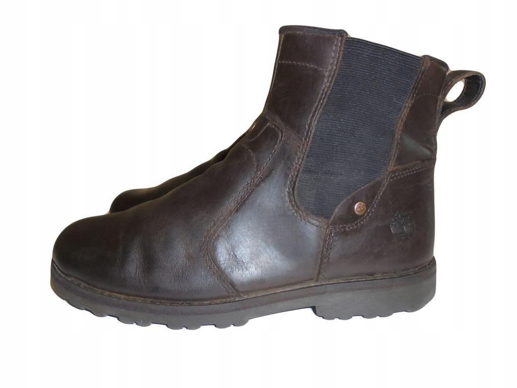 Skórzane buciki firmy Timberland. Rozmiar 35.