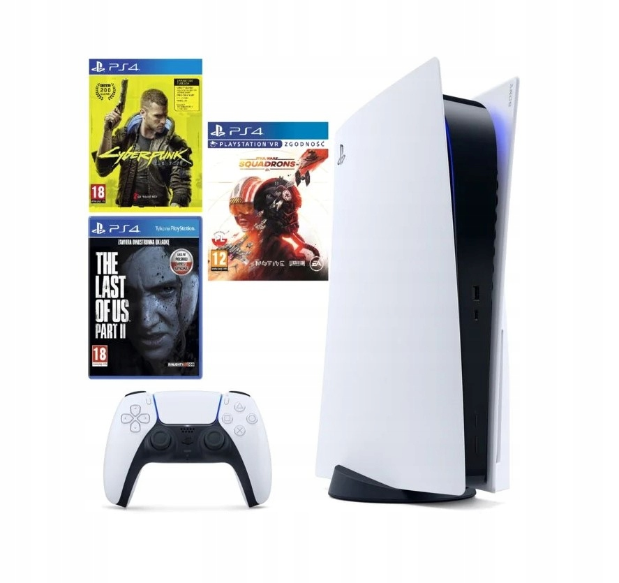 PS5 Playstation 5 + Cyberpunk + TLOU 2 + Star Wars