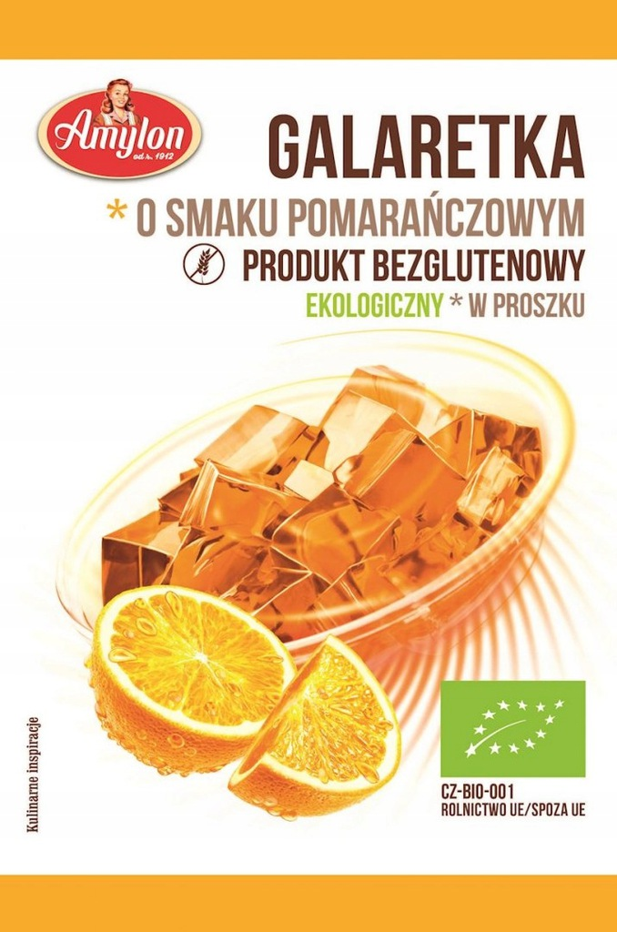 AMYLON Galaretka o smaku pomarańczowym bezglutenow