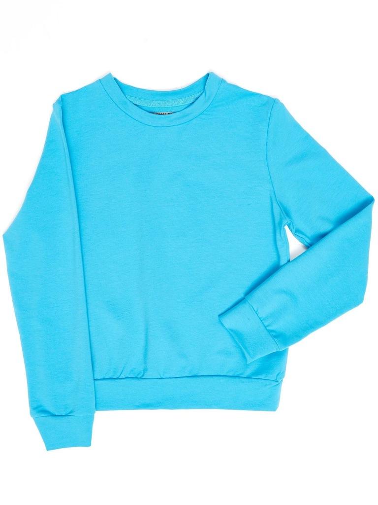 Bluza młodzieżowa basic turkusowa 146