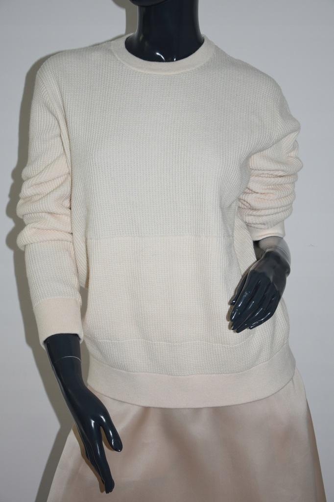 cos ecru sweter bluza bawełna kangurek r. 38/M