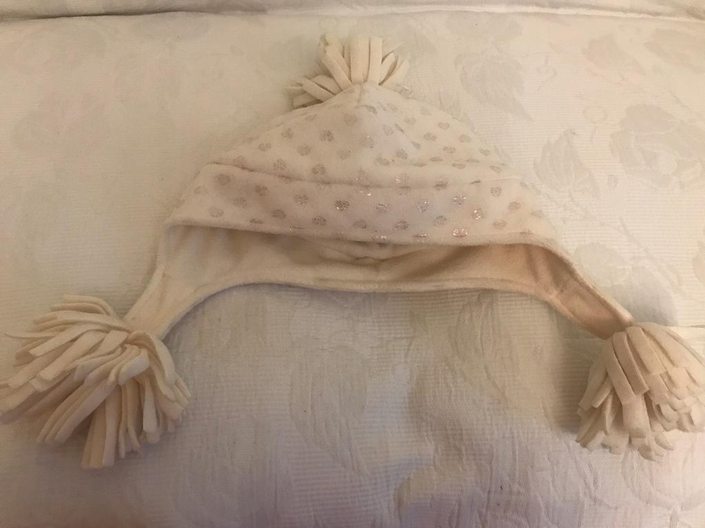 GAP śliczna dziewczęca czapka polar 10-13l