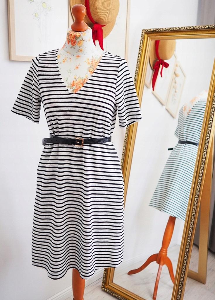 Marynarska sukienka Reserved wiosna M