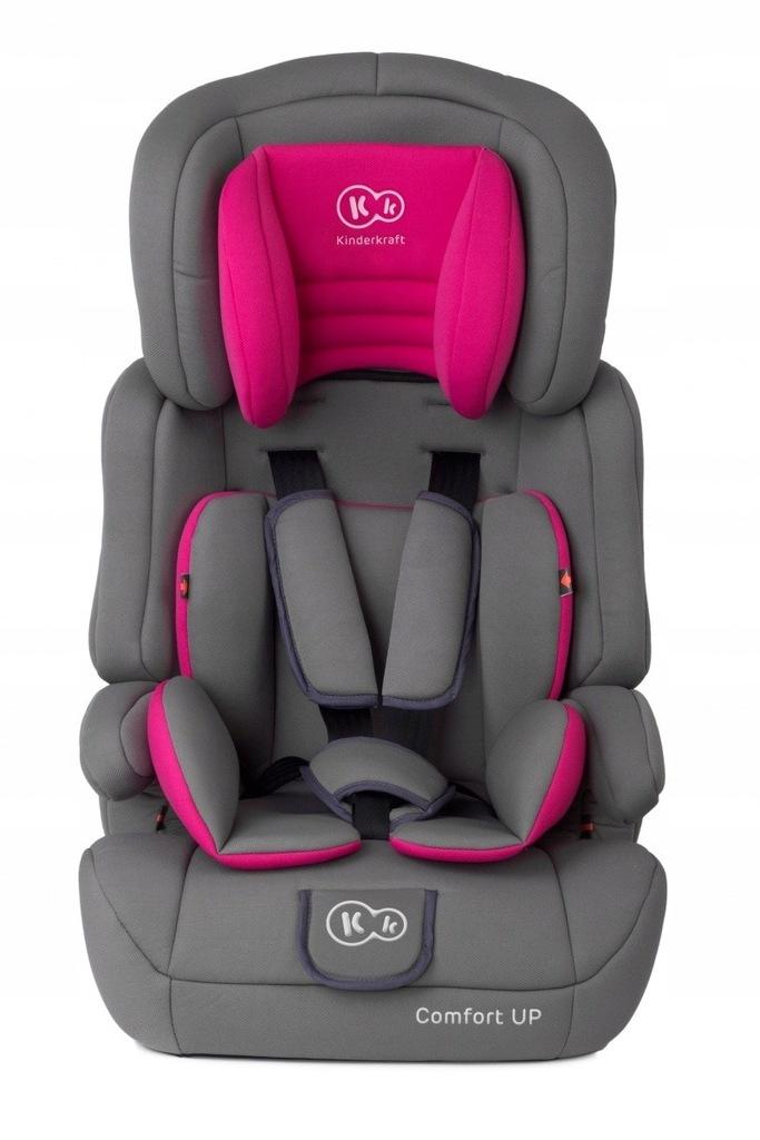 KINDERKRAFT Fotelik Comfort Up 9-36kg Różowy