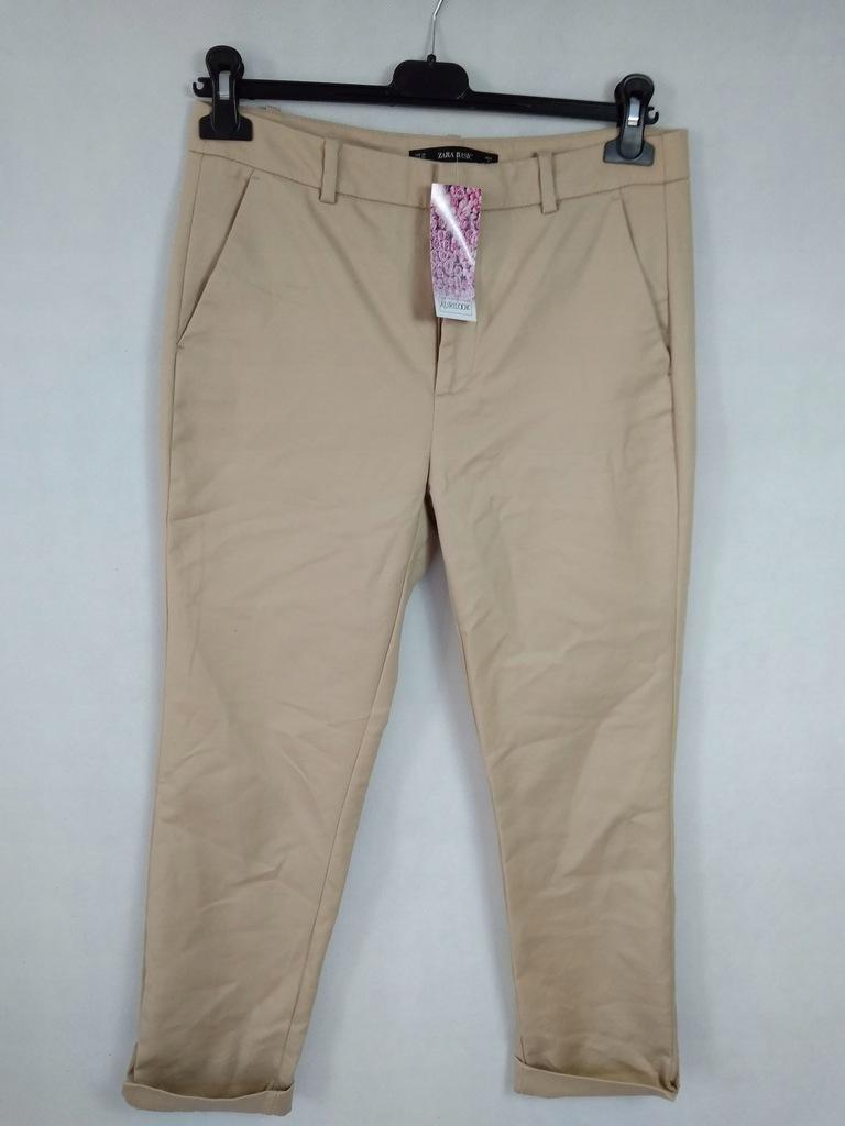 Spodnie eleganckie beż Zara r.M 38 NOWE