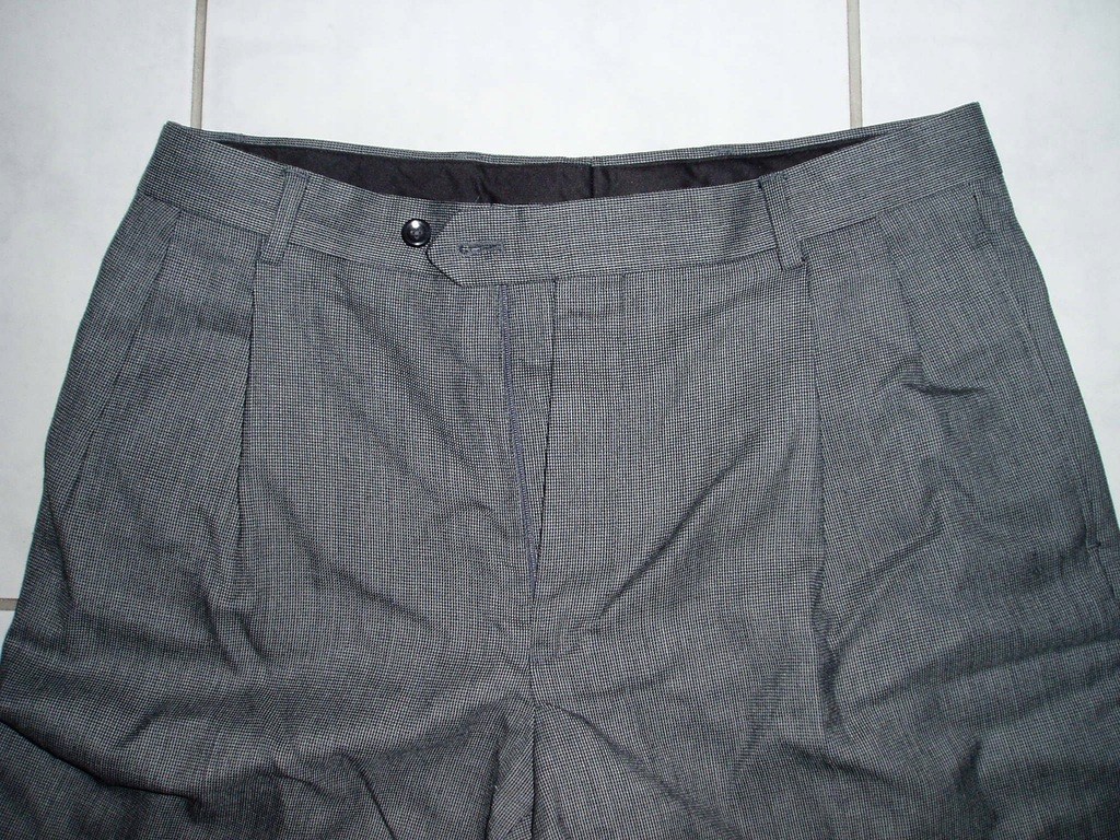 JOS.A.BANK - wełniane spodnie z zakładkami