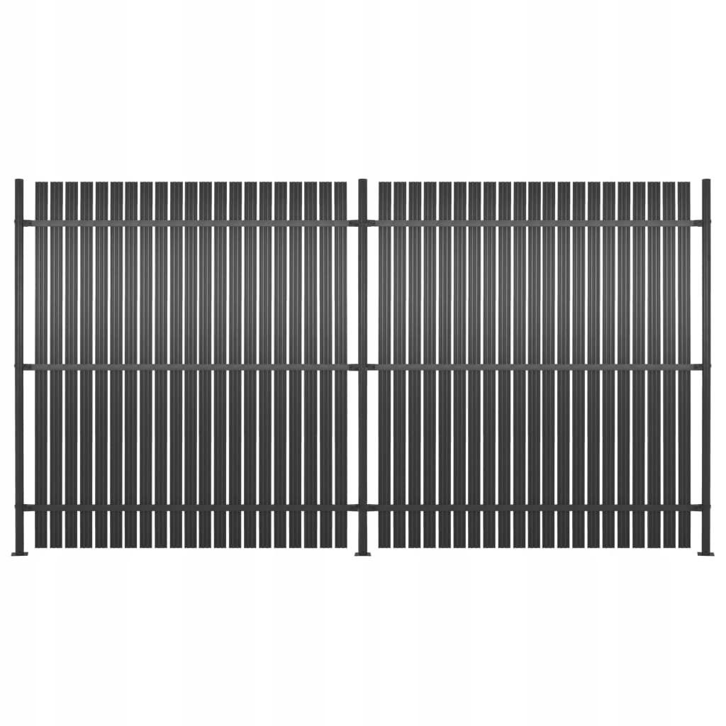 Panele ogrodzeniowe, 2 szt., aluminium, 360 x 180