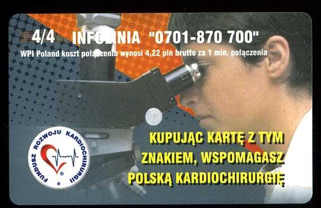 KARTA TELEFONICZNA - KARDIOCHIRURGIA - NOWA