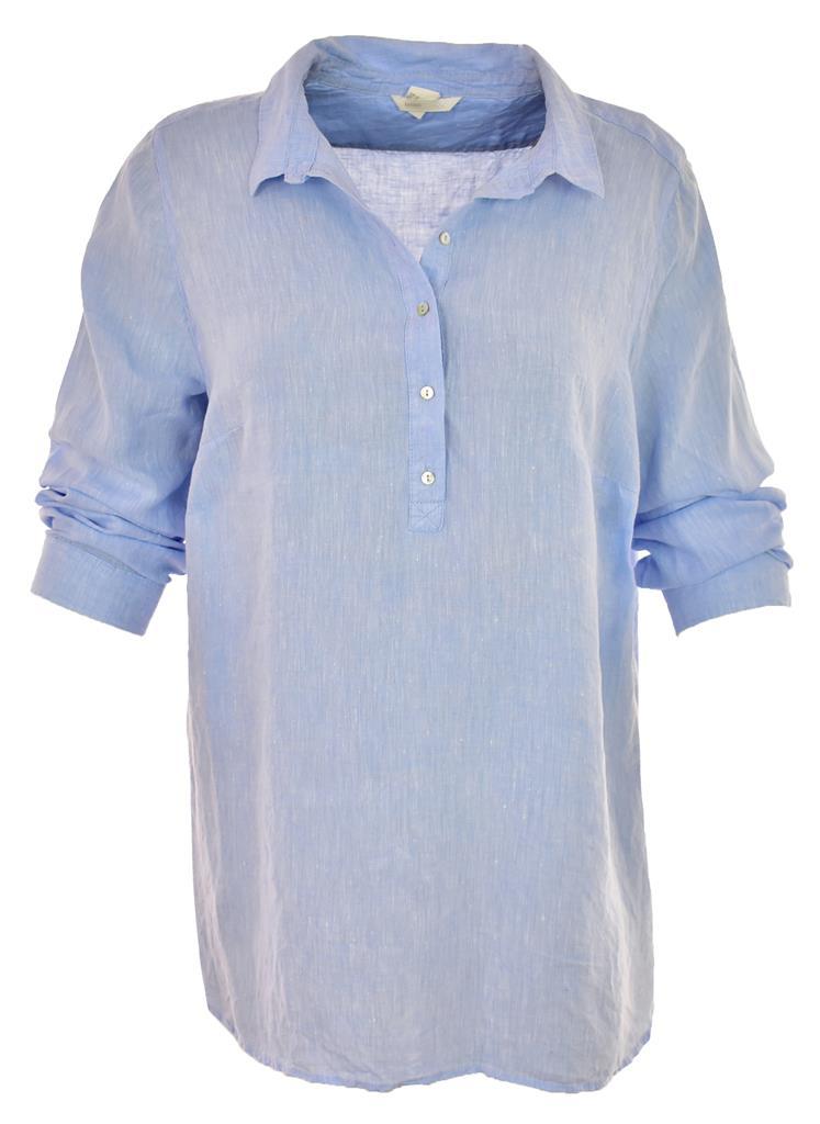 mAR8651 H&M niebieska lniana bluzka 48