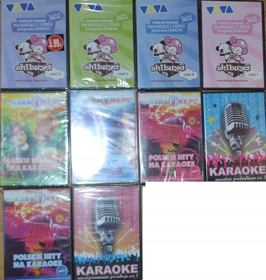 Karaoke zestaw płyt DVD