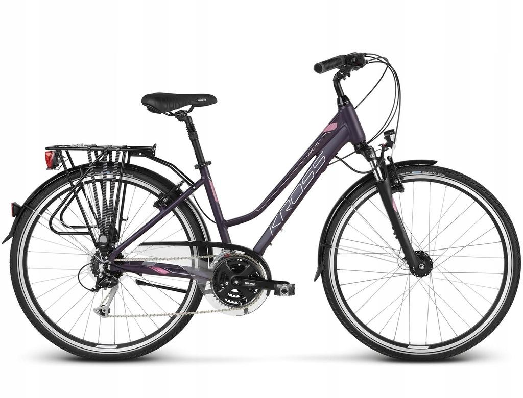 """Rower Kross Trans 5.0 M 28"""" damski fioletowy"""