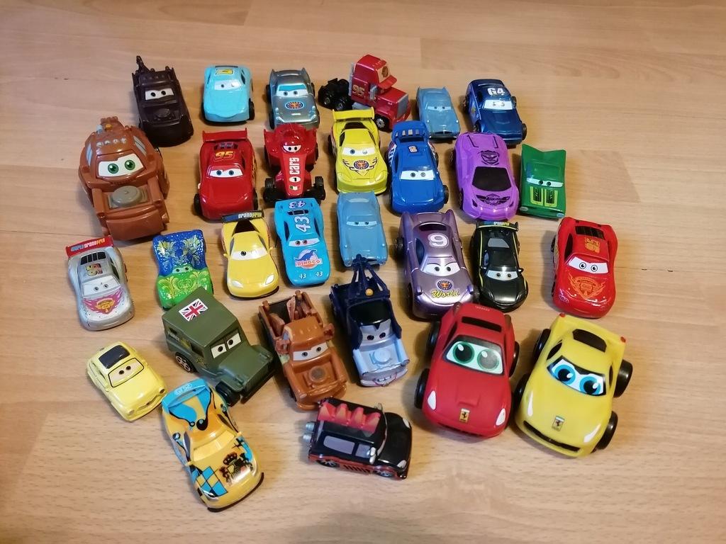 zestaw Zygzak McQueen, auta cars+puzzle+gry