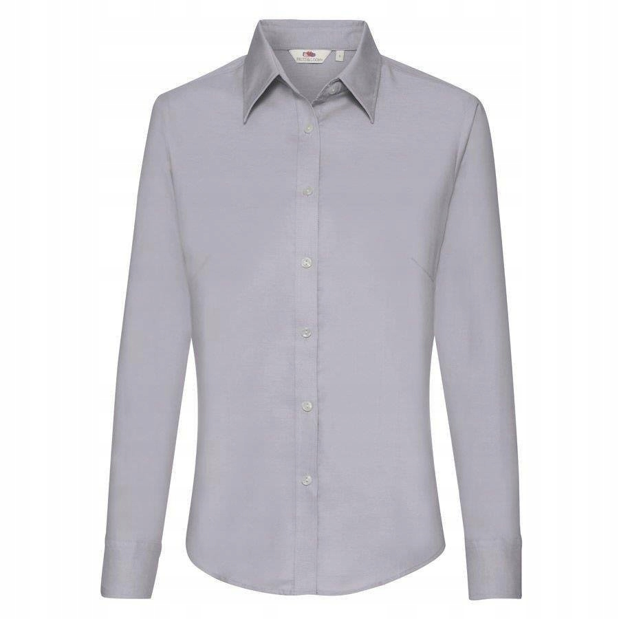 DAMSKA koszula FRUIT BAWEŁNA OXFORD LONG szara XL