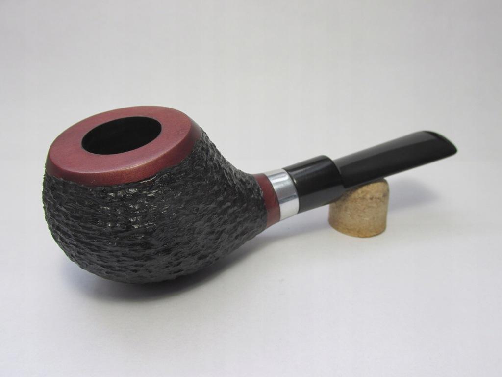 Nowa fajka z gruszy Ryflowana Filtr 9 mm Grusza
