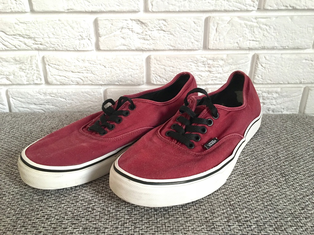 Buty VANS Authentic bordowe r. 45