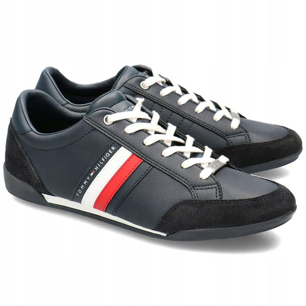 Tommy Hilfiger Granatowe Sneakersy Męskie R.40