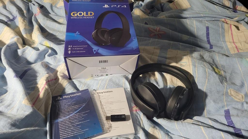 Słuchawki bezprzewodowe Sony PS4 Gold Headset