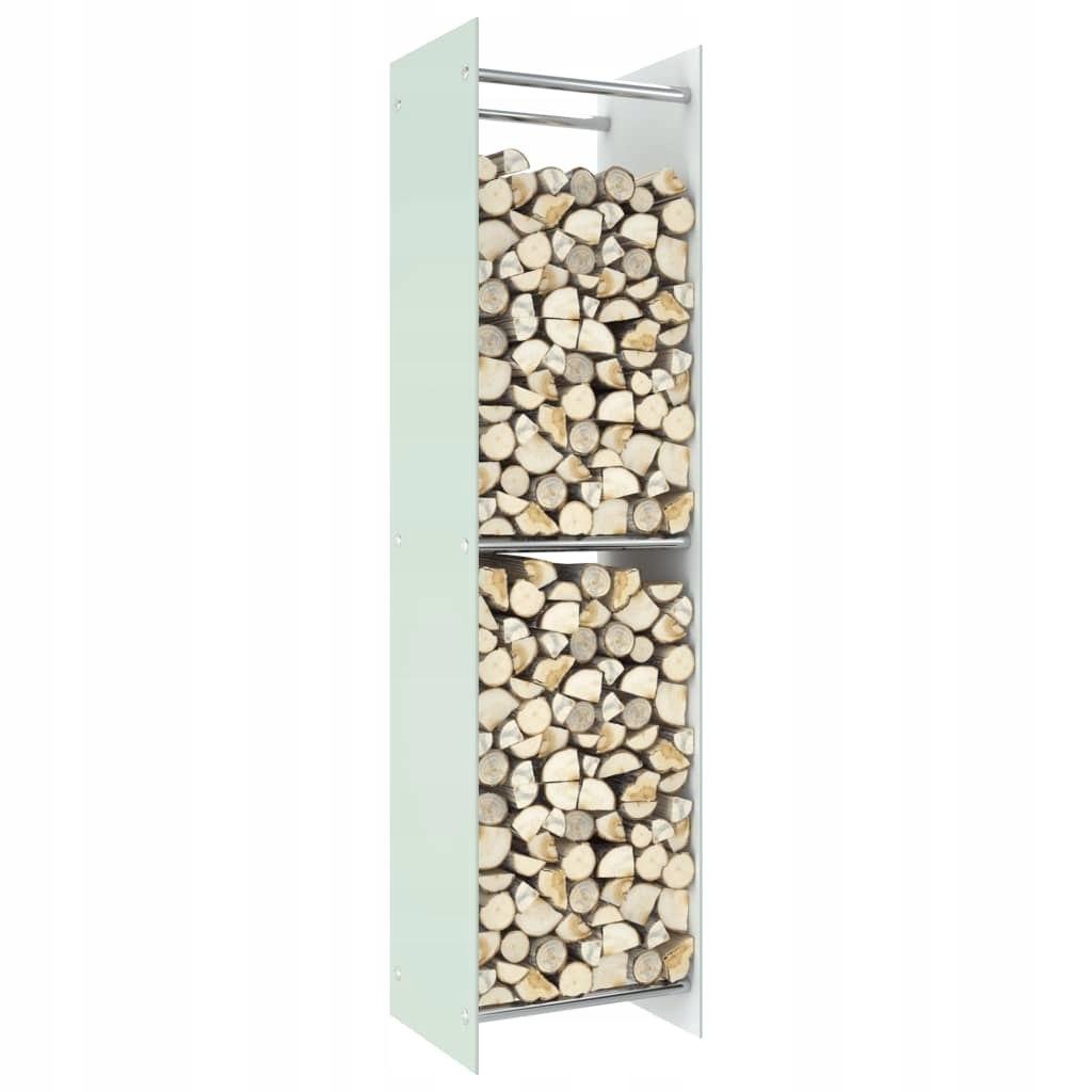 Stojak na drewno opałowe, biały, 40x35x160 cm, sz