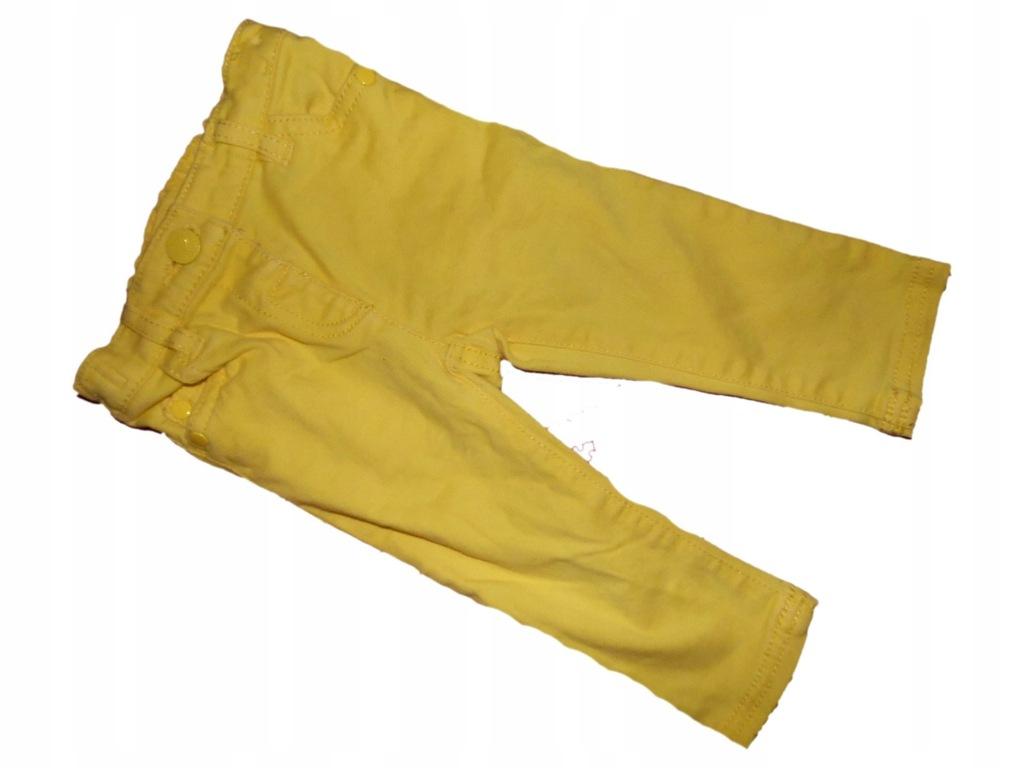 next spodnie jeans żółte 74 stan bdb