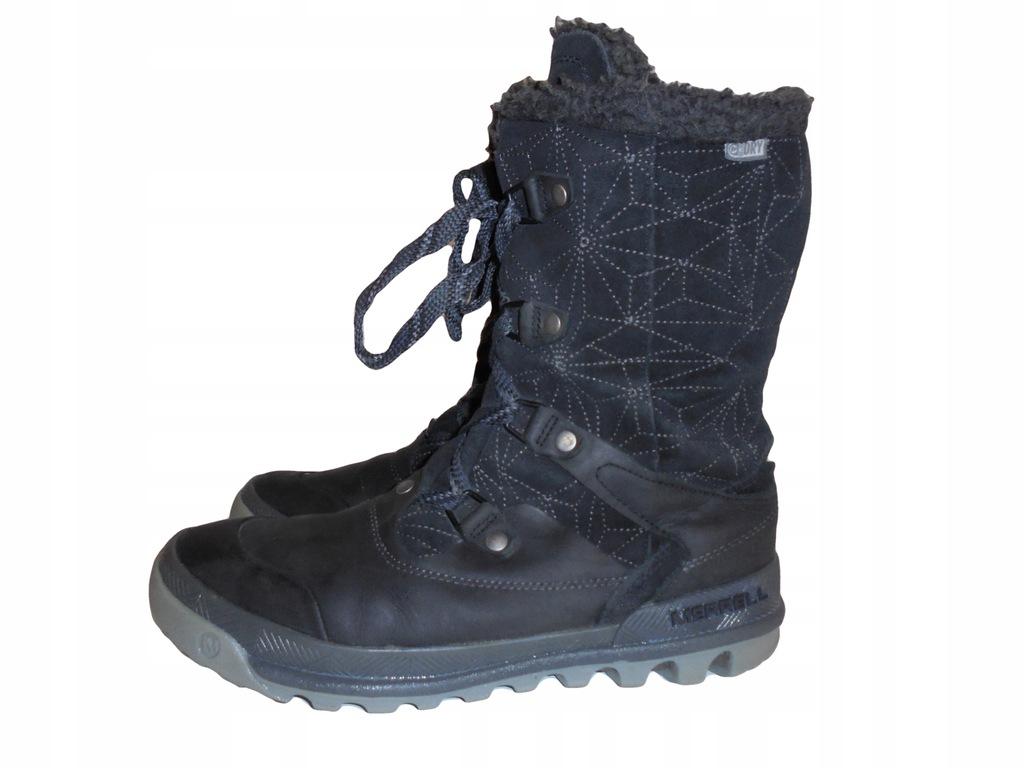 Skórzane zimowe buty Merrell z membraną. 41