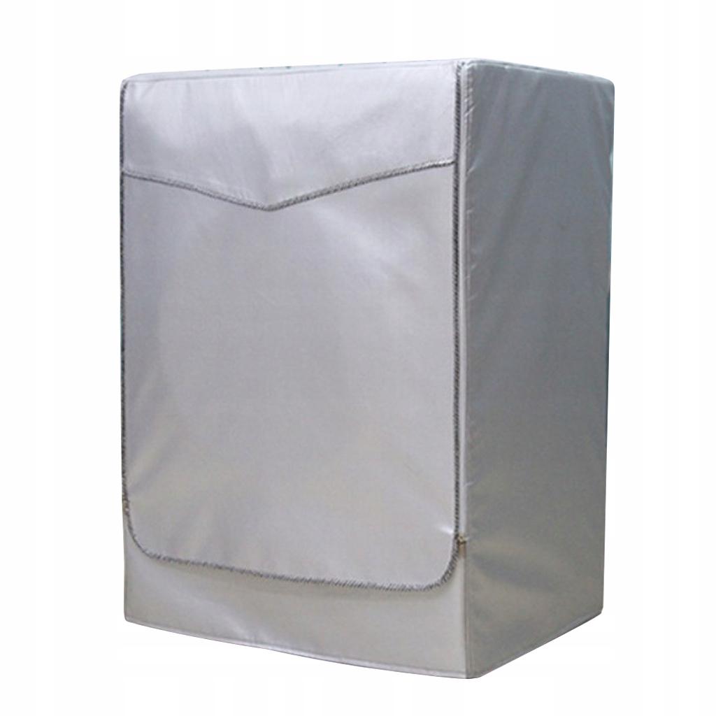 Osłona pralki - Srebrny suwak na - XL