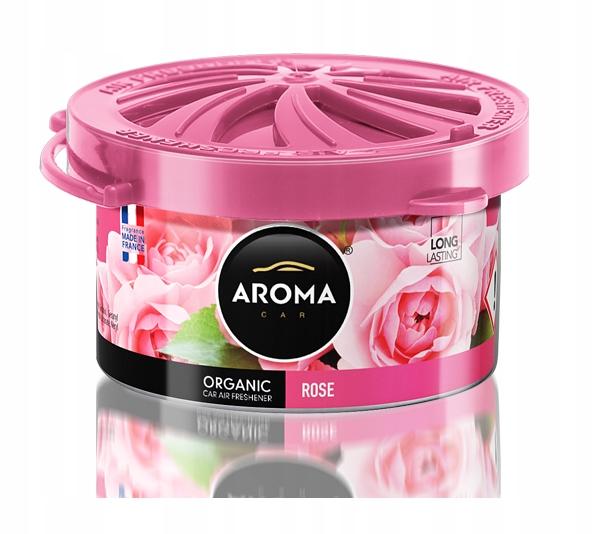 Zapach samochodowy ORGANIC AromaCar ROSE - RÓŻA