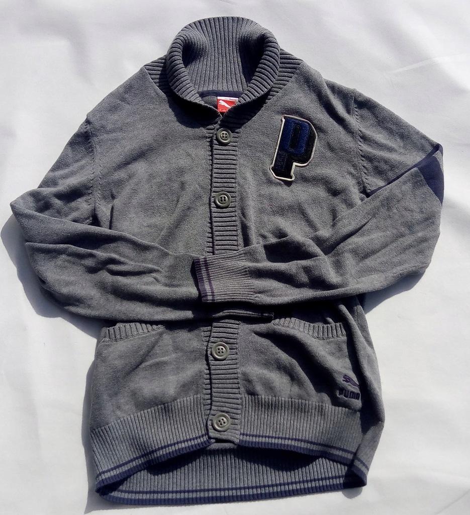 Puma szary sweter w stylu retro rozm M