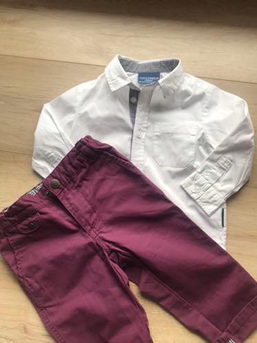 Coccodrillo 80 koszula spodnie komplet