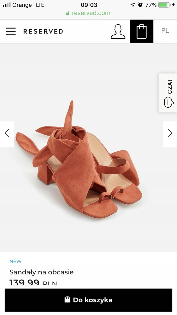 Sandały Reserved, 40