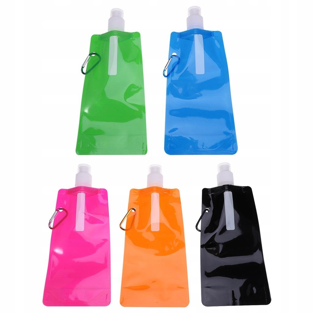 10 sztuk Składana torba na wodę Butelka na wodę na