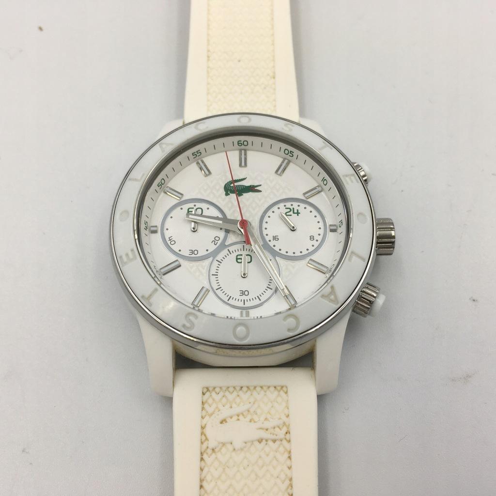 c22 LACOSTE zegarek damski biały pasek guma