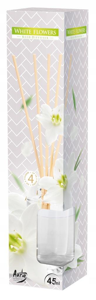 BISPOL DYFUZOR ZAPACHOWY PATYCZKI Białe kwiaty