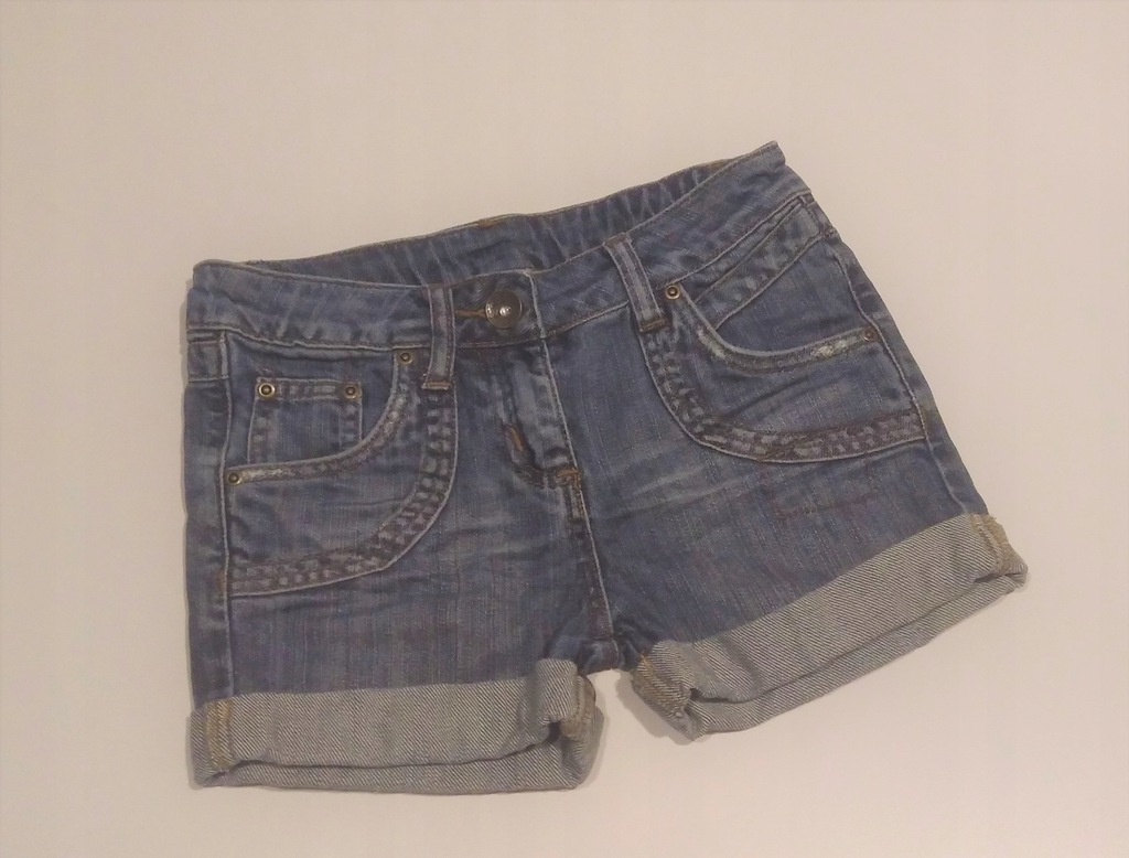 M&C krótkie spodenki jeans regul. mankiet 140