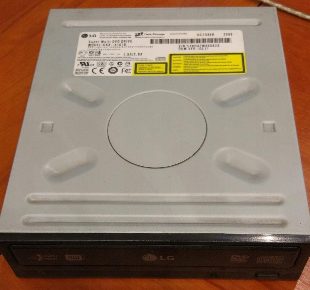 Nagrywarka DVD LG GSA-4167B + taśma