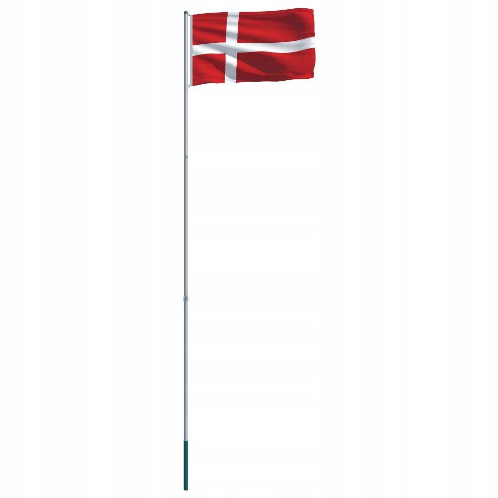 Flaga Danii Z Aluminiowym Masztem 6 m
